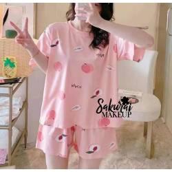 Pijama Durazno Rosado Short...