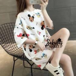Pijama Mickey Blanco Short...