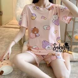 Pijama Osito Rosado Short y...